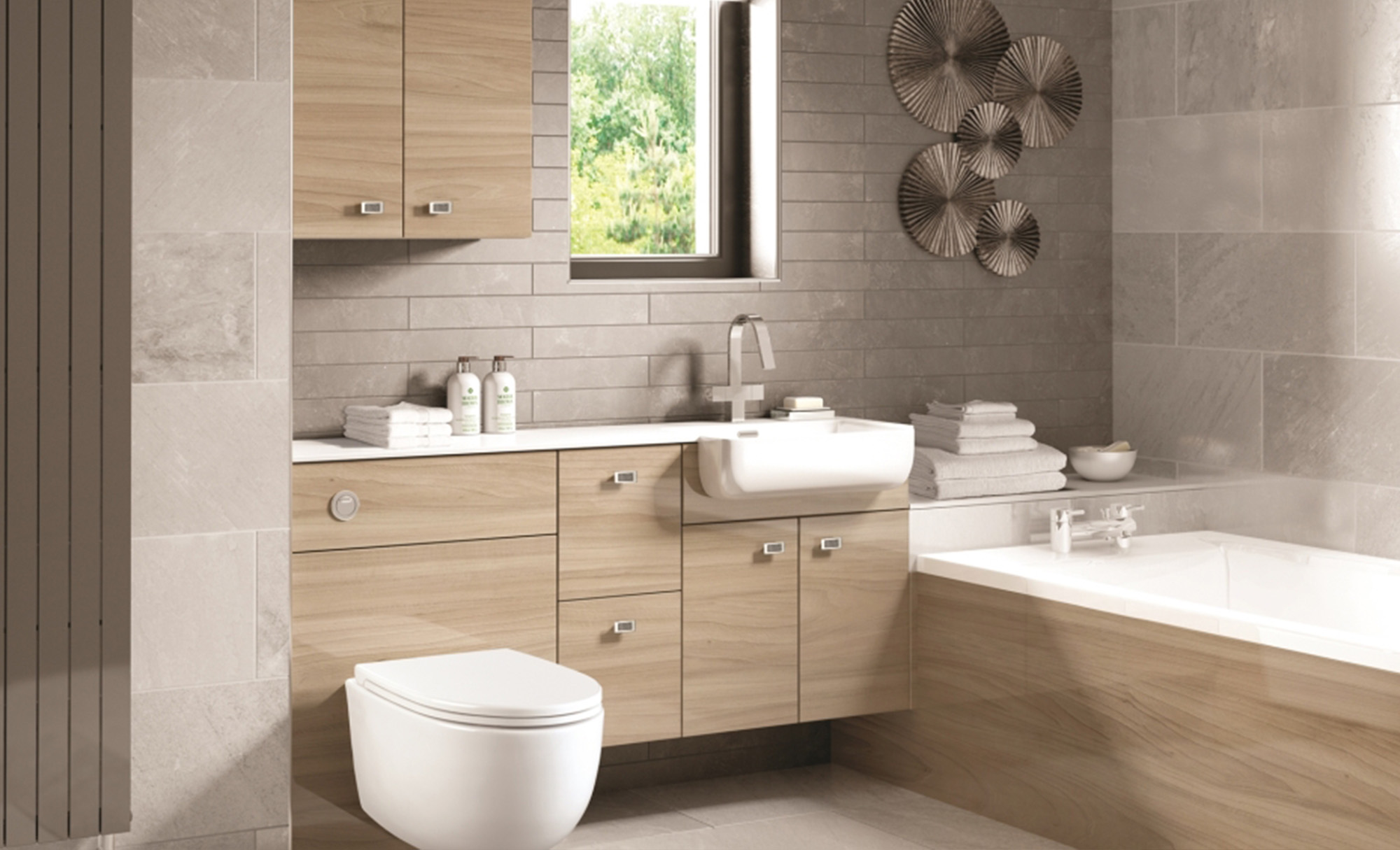 Eco Bathrooms Urban Gloss Elm