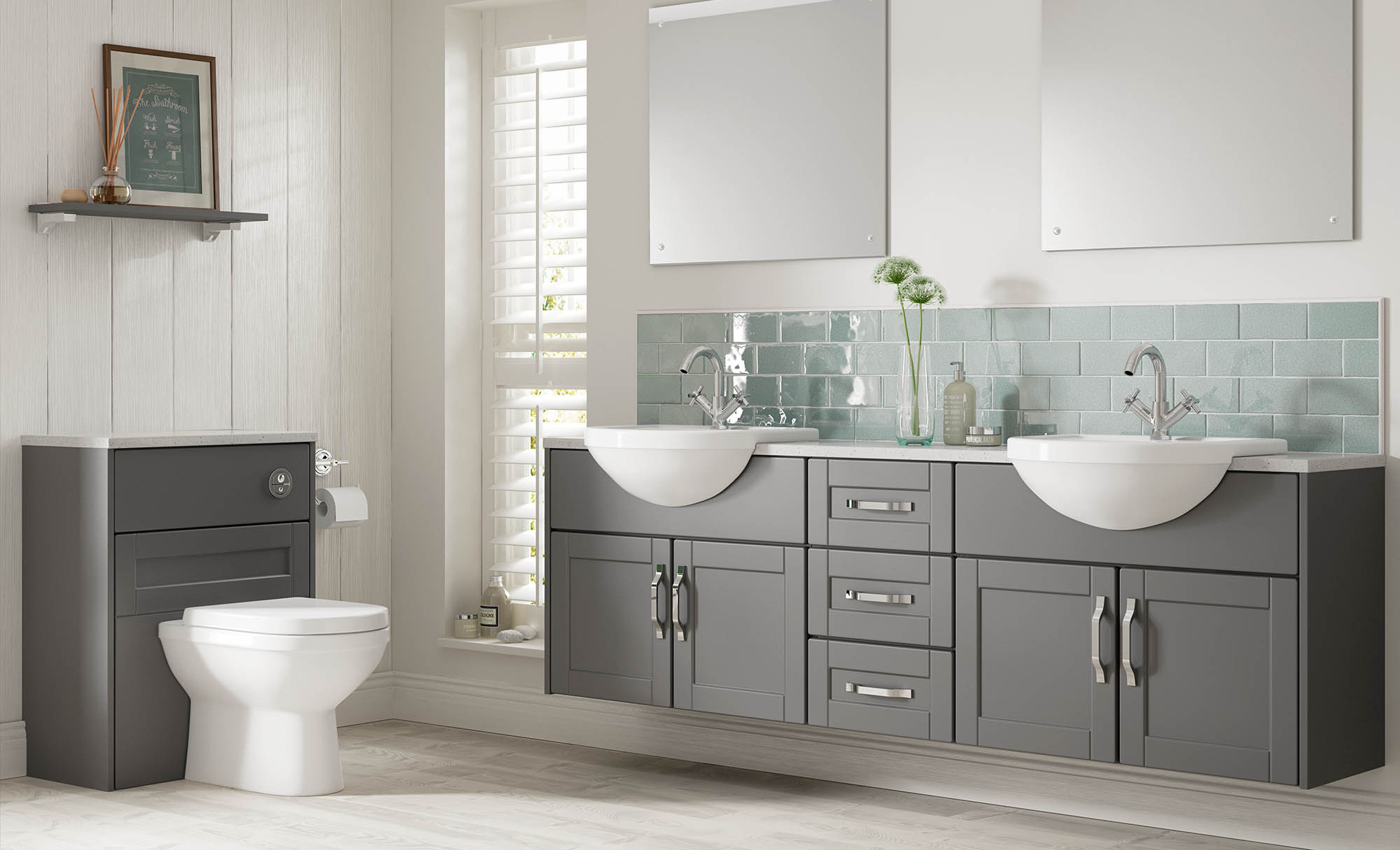 Gaddesby Bathrooms Cologne Dust Grey