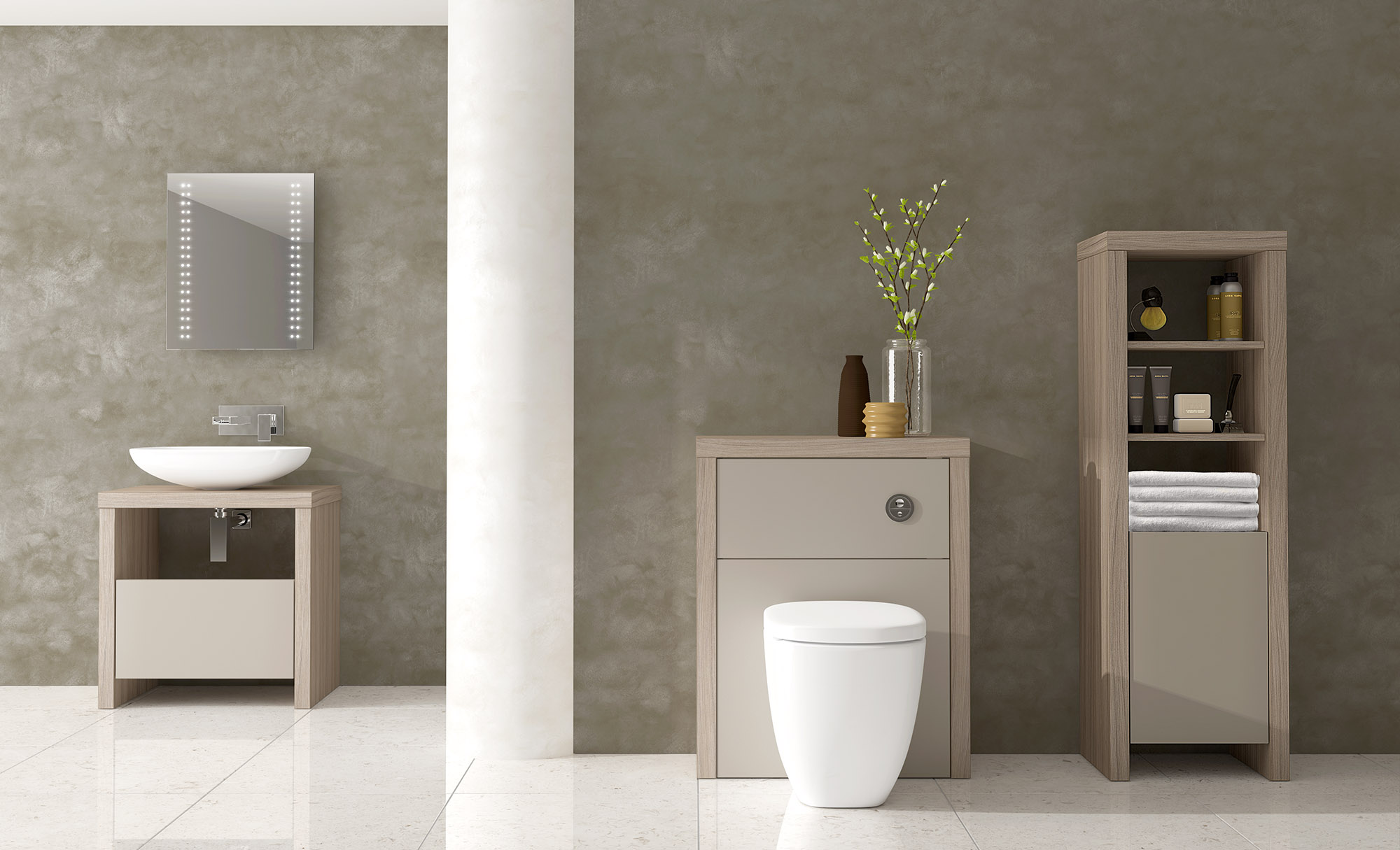 Greyhouse Bathrooms Amelie Driftwood