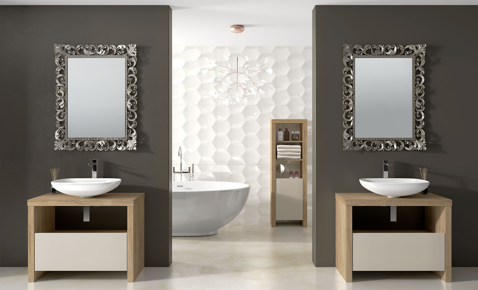 Greyhouse Bathrooms Amelie Grey Bardolino